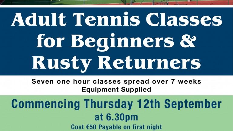 Adult Beginner/Returner Classes